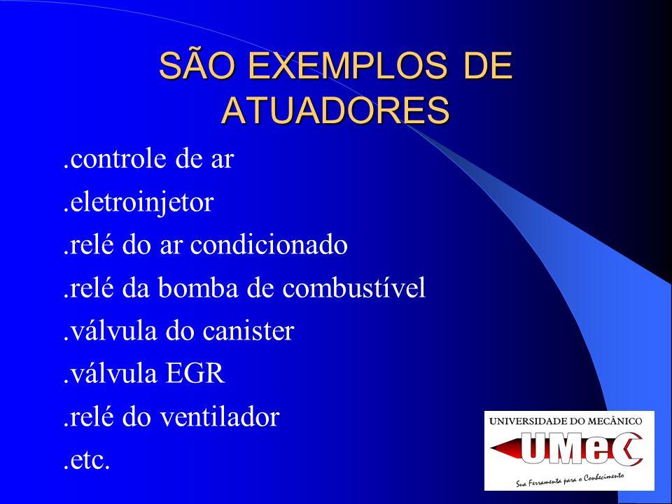 SÃO EXEMPLOS DE ATUADORES