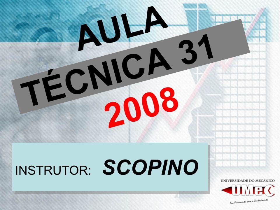 AULA TÉCNICA 31 2008 INSTRUTOR: SCOPINO