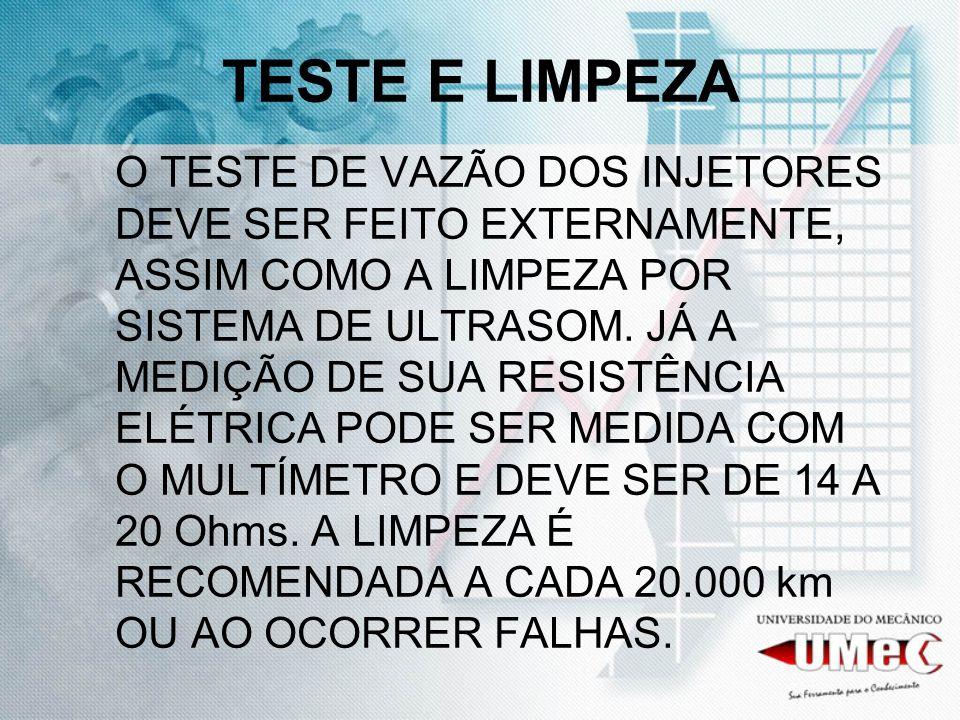TESTE E LIMPEZA
