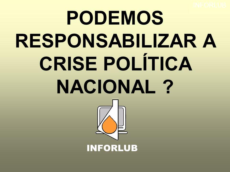 PODEMOS RESPONSABILIZAR A CRISE POLÍTICA NACIONAL