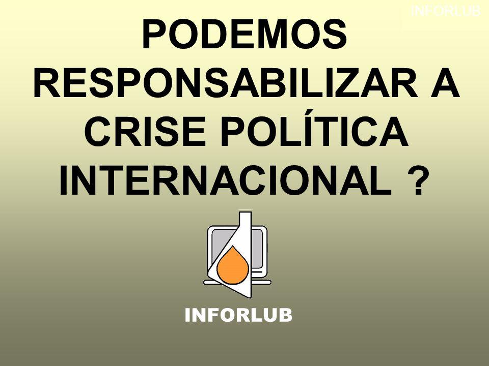 PODEMOS RESPONSABILIZAR A CRISE POLÍTICA INTERNACIONAL