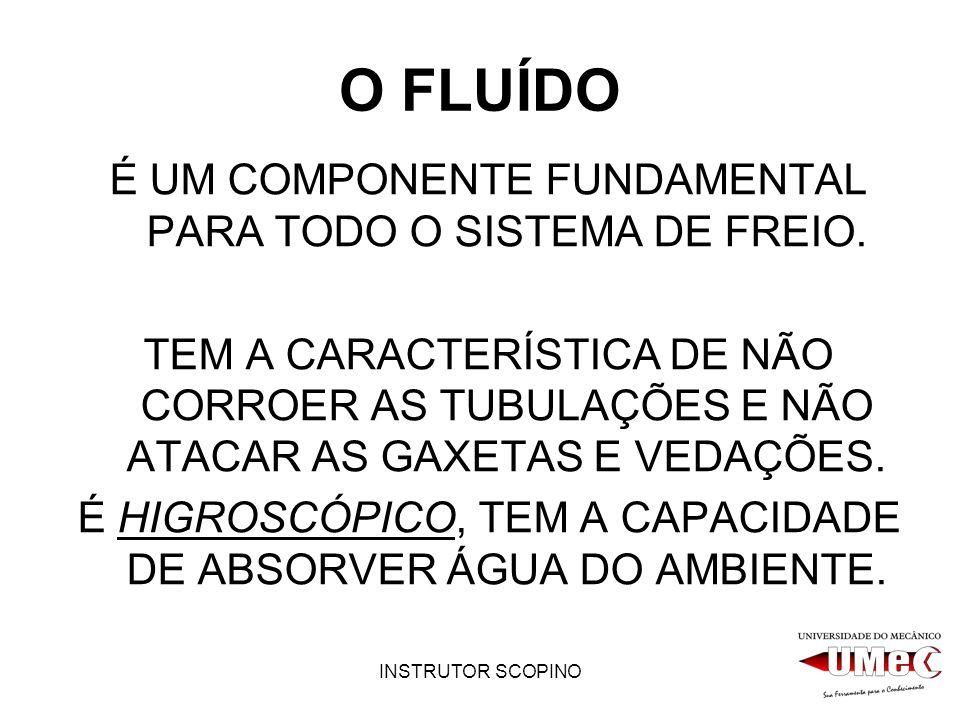 O FLUÍDO É UM COMPONENTE FUNDAMENTAL PARA TODO O SISTEMA DE FREIO.