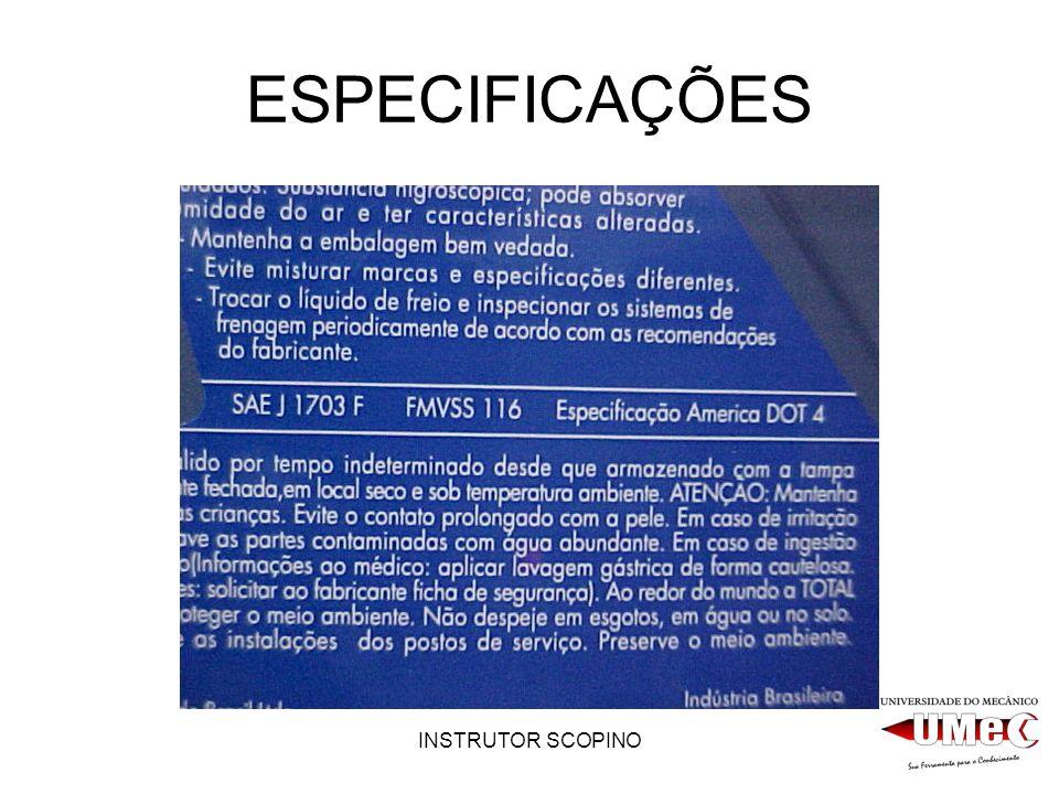 ESPECIFICAÇÕES INSTRUTOR SCOPINO