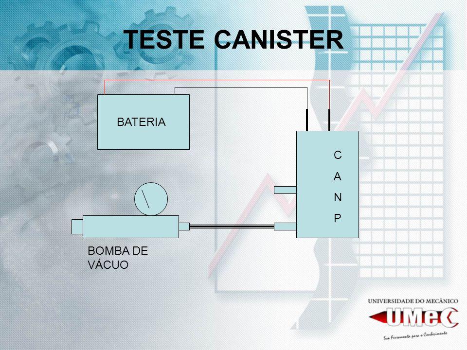 TESTE CANISTER BATERIA C A N P BOMBA DE VÁCUO