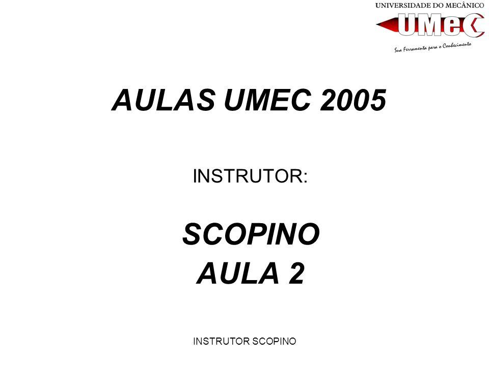 INSTRUTOR: SCOPINO AULA 2