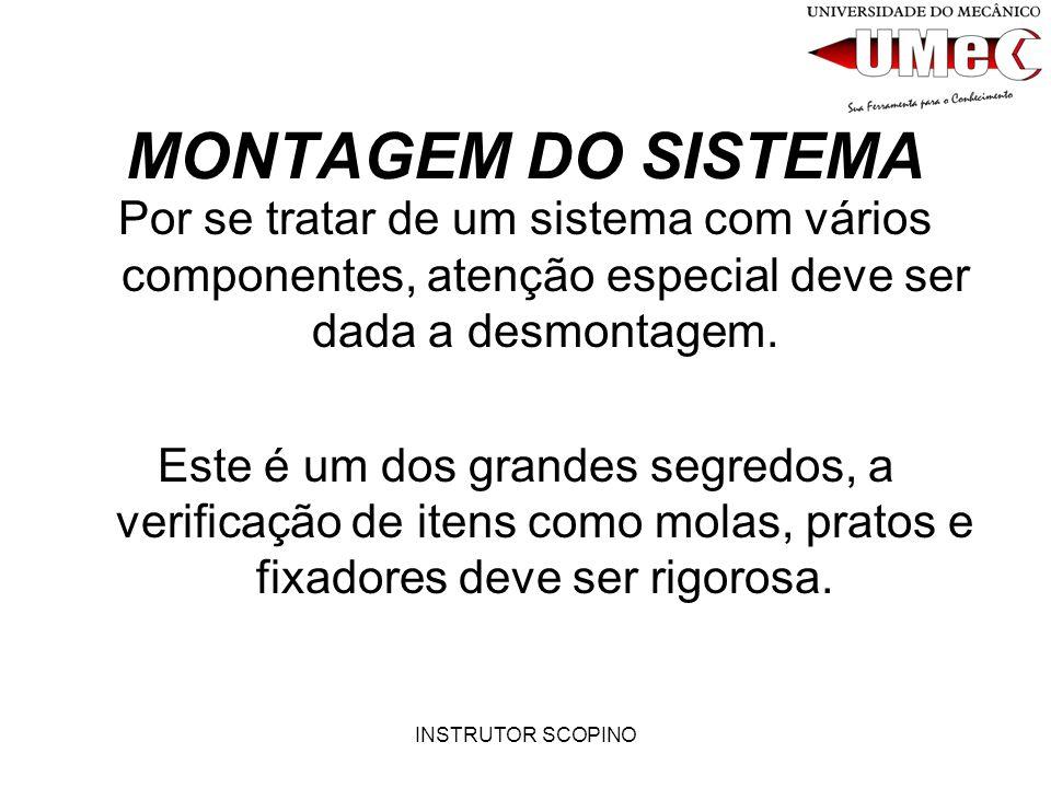 MONTAGEM DO SISTEMA Por se tratar de um sistema com vários componentes, atenção especial deve ser dada a desmontagem.