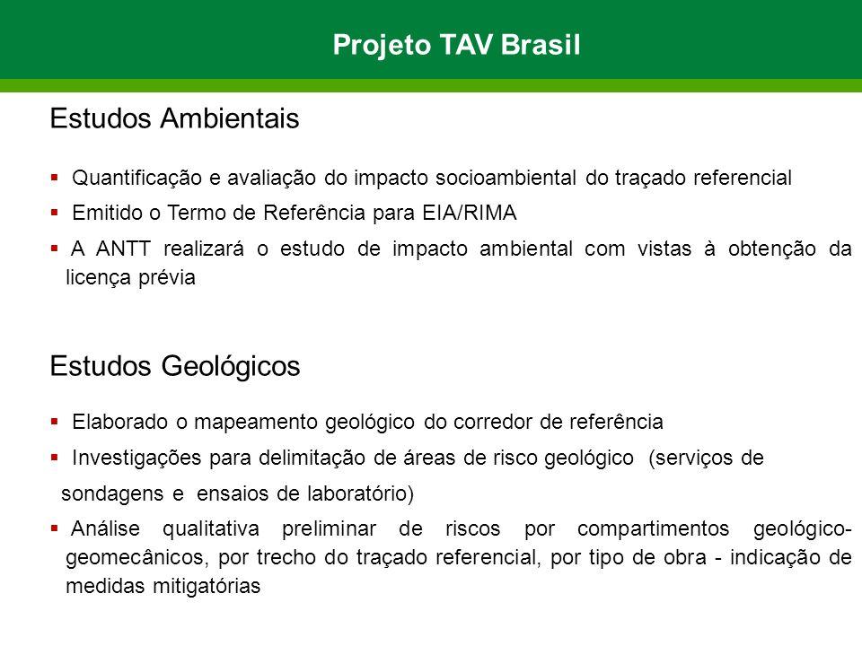 Projeto TAV Brasil Estudos Ambientais Estudos Geológicos