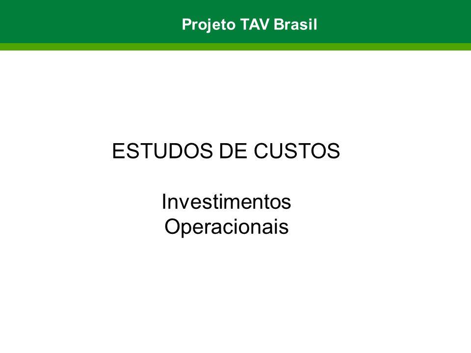 Projeto TAV Brasil ESTUDOS DE CUSTOS Investimentos Operacionais