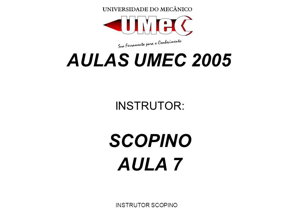 INSTRUTOR: SCOPINO AULA 7