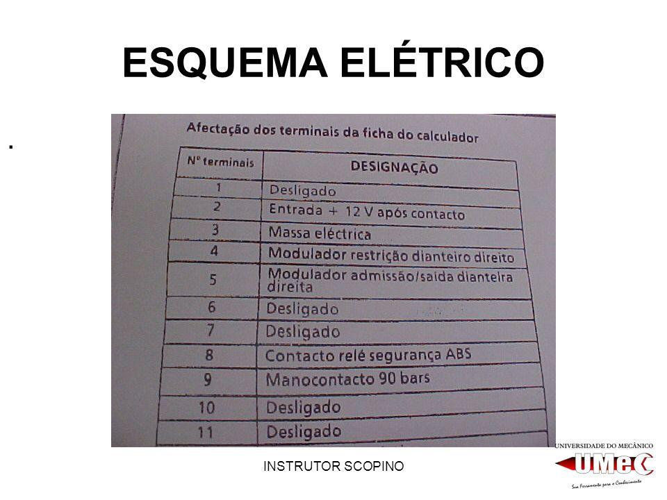 ESQUEMA ELÉTRICO . INSTRUTOR SCOPINO