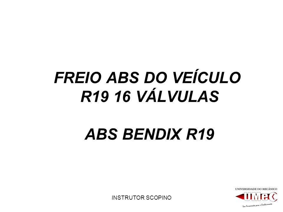 FREIO ABS DO VEÍCULO R19 16 VÁLVULAS ABS BENDIX R19