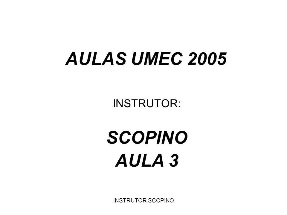 INSTRUTOR: SCOPINO AULA 3