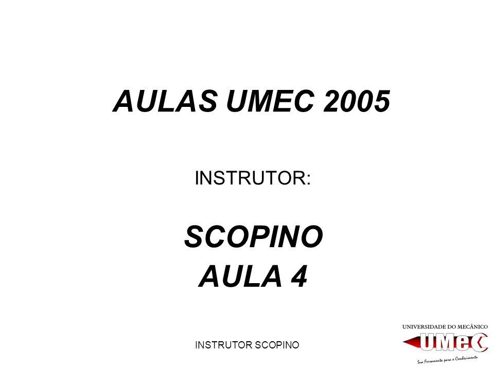 INSTRUTOR: SCOPINO AULA 4
