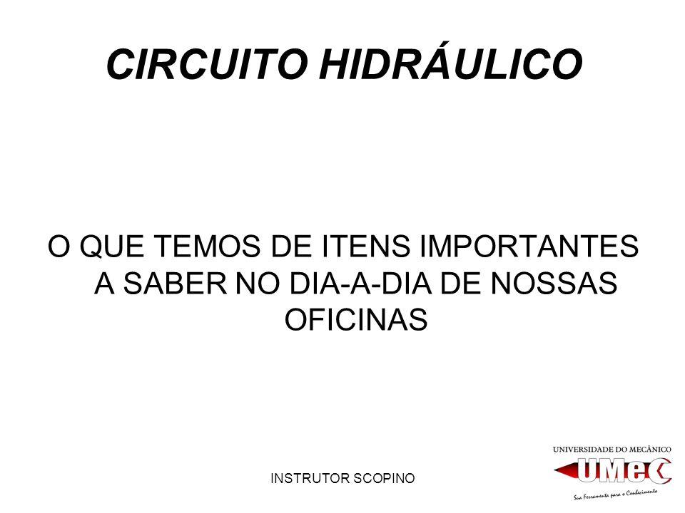 CIRCUITO HIDRÁULICO O QUE TEMOS DE ITENS IMPORTANTES A SABER NO DIA-A-DIA DE NOSSAS OFICINAS.