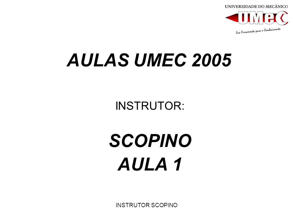 INSTRUTOR: SCOPINO AULA 1