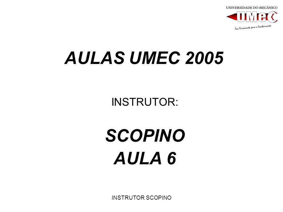INSTRUTOR: SCOPINO AULA 6
