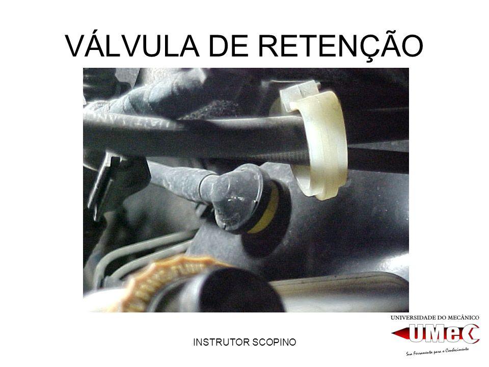 VÁLVULA DE RETENÇÃO INSTRUTOR SCOPINO