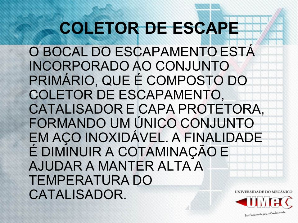 COLETOR DE ESCAPE