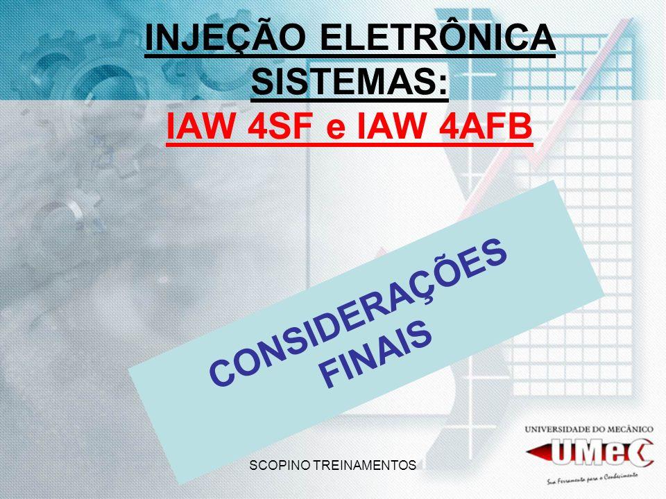 INJEÇÃO ELETRÔNICA SISTEMAS: IAW 4SF e IAW 4AFB