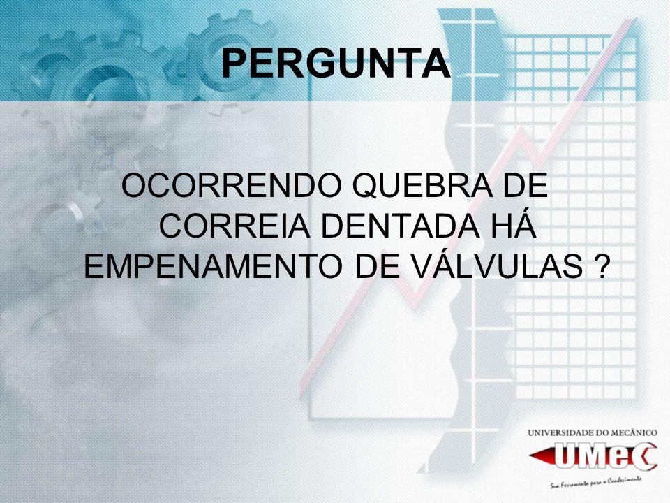 OCORRENDO QUEBRA DE CORREIA DENTADA HÁ EMPENAMENTO DE VÁLVULAS