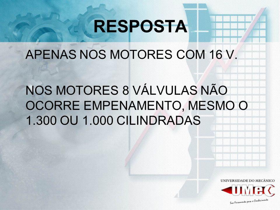 RESPOSTA APENAS NOS MOTORES COM 16 V.