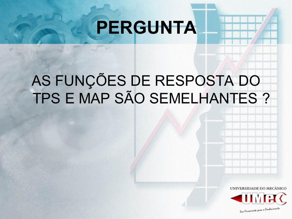AS FUNÇÕES DE RESPOSTA DO TPS E MAP SÃO SEMELHANTES