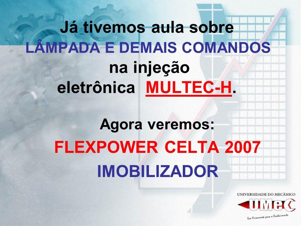 Já tivemos aula sobre LÂMPADA E DEMAIS COMANDOS na injeção eletrônica MULTEC-H.