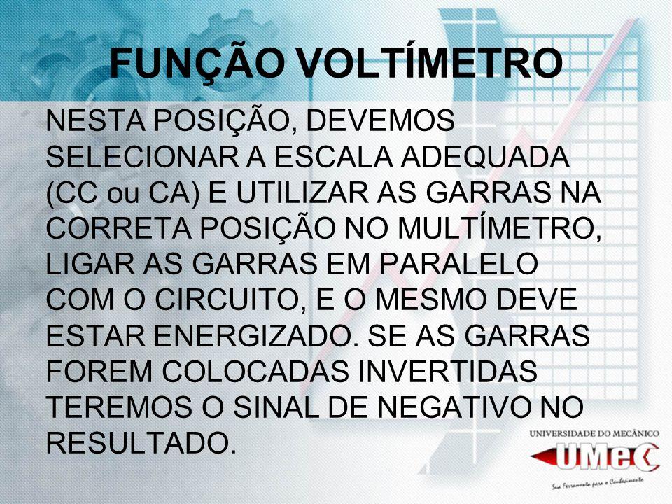 FUNÇÃO VOLTÍMETRO