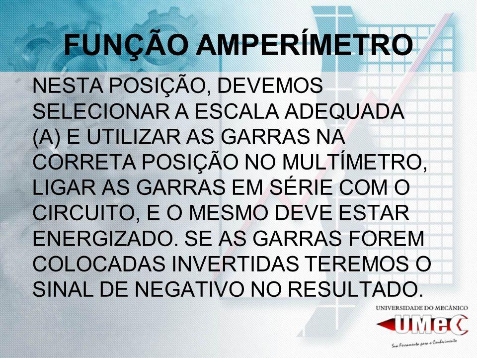 FUNÇÃO AMPERÍMETRO