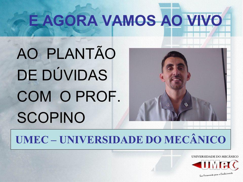 AO PLANTÃO DE DÚVIDAS COM O PROF. SCOPINO