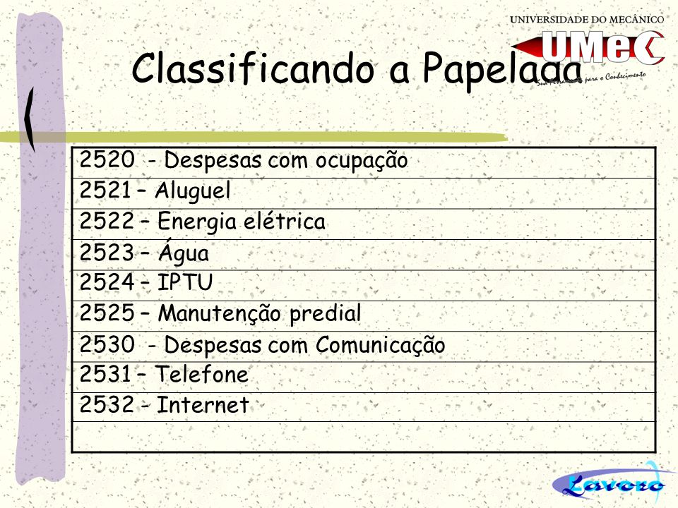 Classificando a Papelada