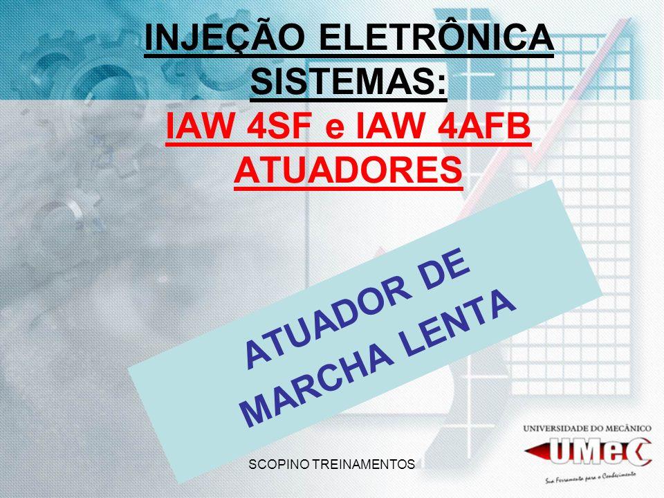 INJEÇÃO ELETRÔNICA SISTEMAS: IAW 4SF e IAW 4AFB ATUADORES