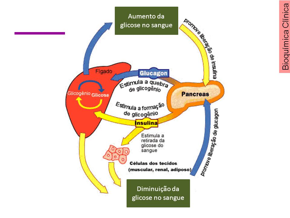 Aumento da glicose no sangue