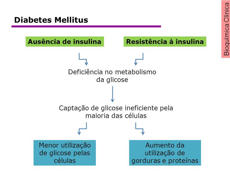 Diabetes Mellitus Ausência de insulina Resistência à insulina