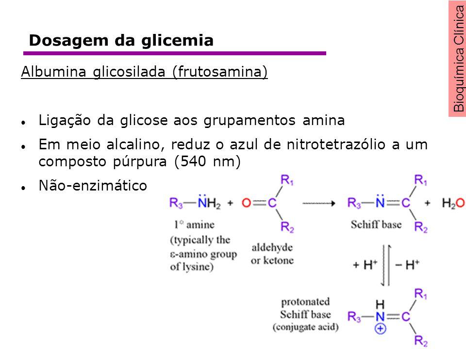 Dosagem da glicemia Albumina glicosilada (frutosamina)