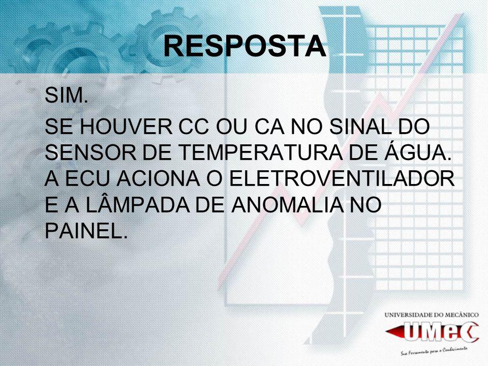 RESPOSTASIM.SE HOUVER CC OU CA NO SINAL DO SENSOR DE TEMPERATURA DE ÁGUA.