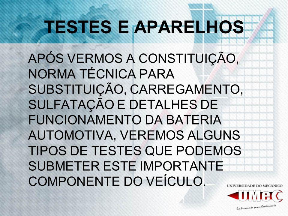 TESTES E APARELHOS