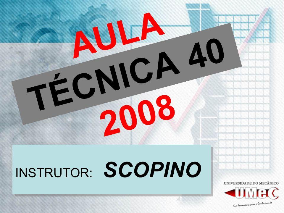 AULA TÉCNICA 40 2008 INSTRUTOR: SCOPINO
