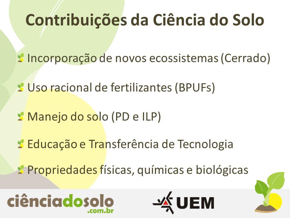 Incorporação de novos ecossistemas (Cerrado)