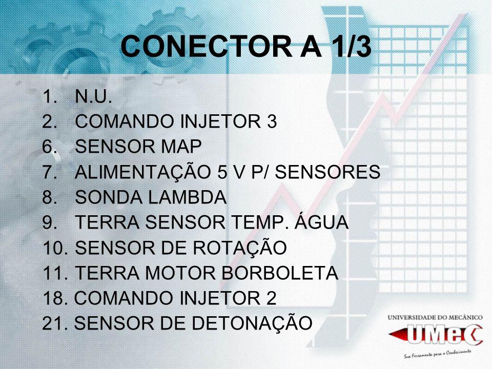 CONECTOR A 1/3 N.U. COMANDO INJETOR 3 SENSOR MAP