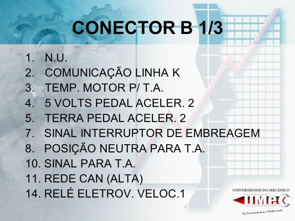 CONECTOR B 1/3 N.U. COMUNICAÇÃO LINHA K TEMP. MOTOR P/ T.A.
