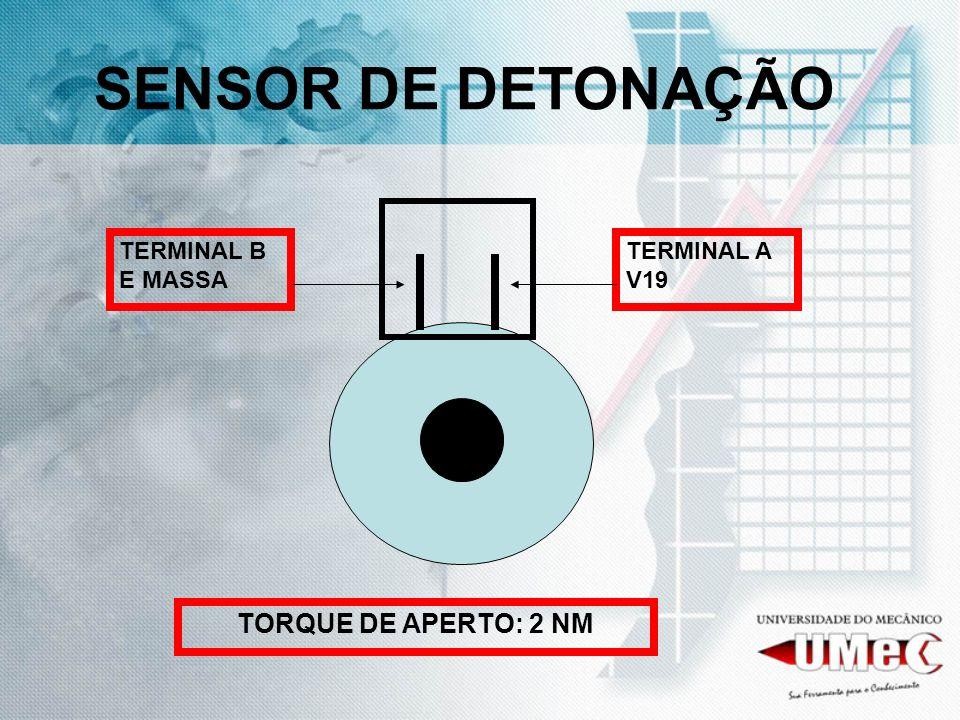 SENSOR DE DETONAÇÃO TORQUE DE APERTO: 2 NM TERMINAL B E MASSA