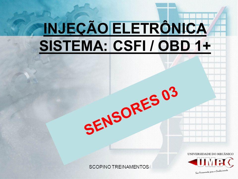 INJEÇÃO ELETRÔNICA SISTEMA: CSFI / OBD 1+