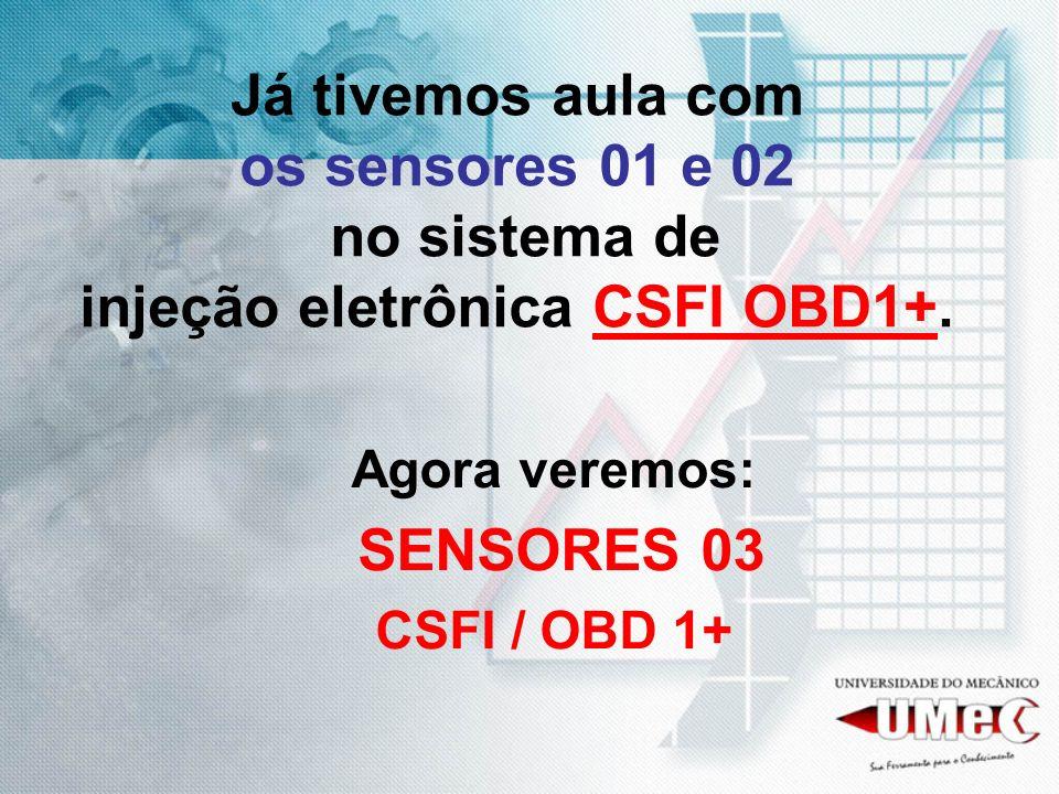 Já tivemos aula com os sensores 01 e 02 no sistema de injeção eletrônica CSFI OBD1+.