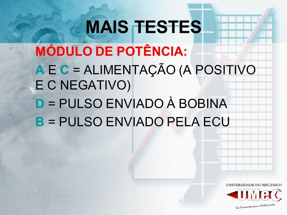 MAIS TESTES MÓDULO DE POTÊNCIA: