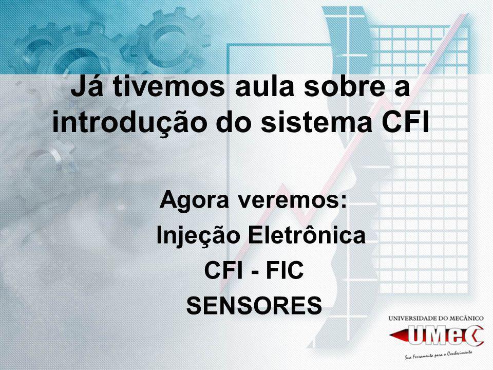 Já tivemos aula sobre a introdução do sistema CFI