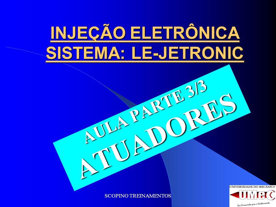 INJEÇÃO ELETRÔNICA SISTEMA: LE-JETRONIC
