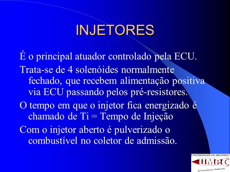 INJETORES É o principal atuador controlado pela ECU.