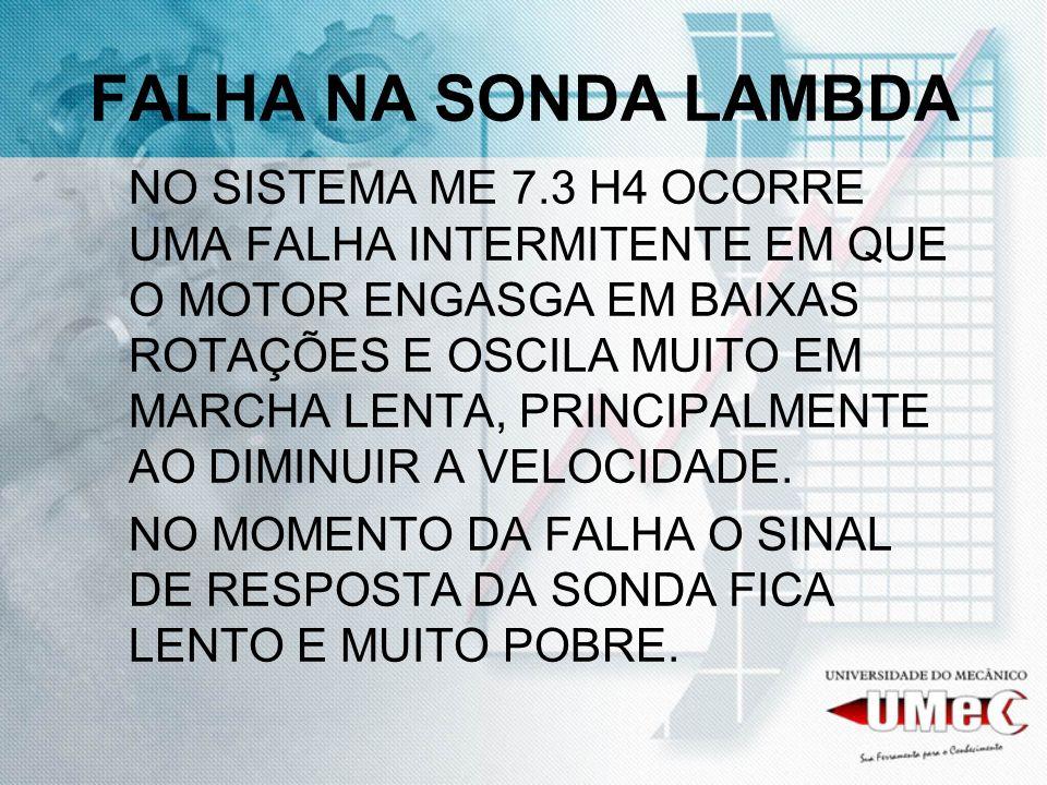 FALHA NA SONDA LAMBDA