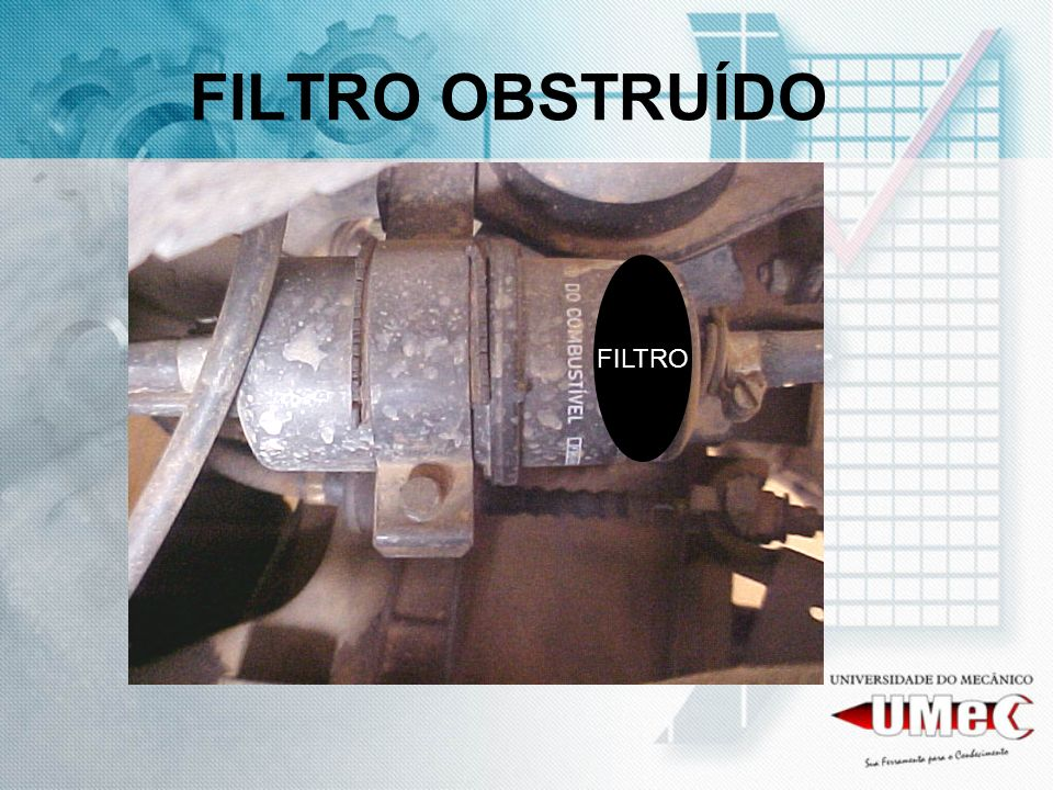 FILTRO OBSTRUÍDO FILTRO